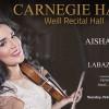 Violinista dominicana Aisha Syed se presentará en el Carnegie Hall